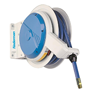 Heavy duty hose reel for air, water, oil, diesel and grease. Perth WA
